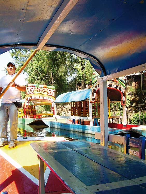 Clemente at Xochimilco on river boat