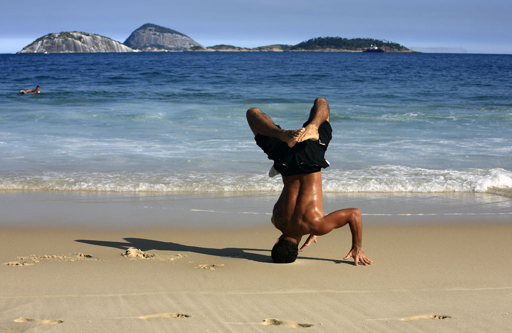 Capoeira on Ipanema beach, Rio