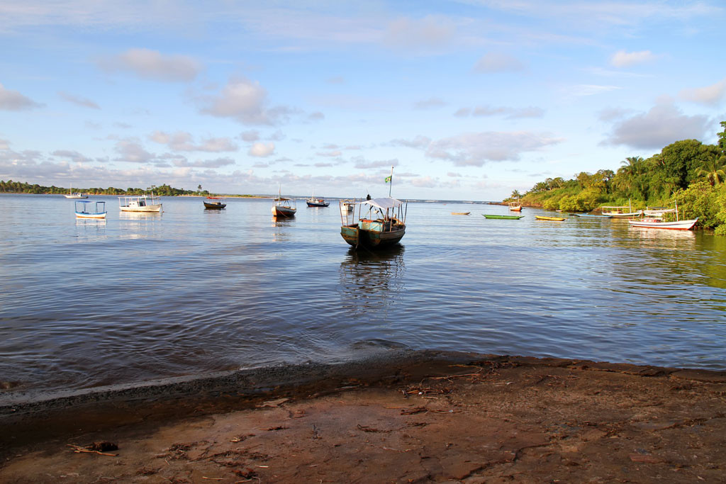 Boats in Itacare Bay, Bahia