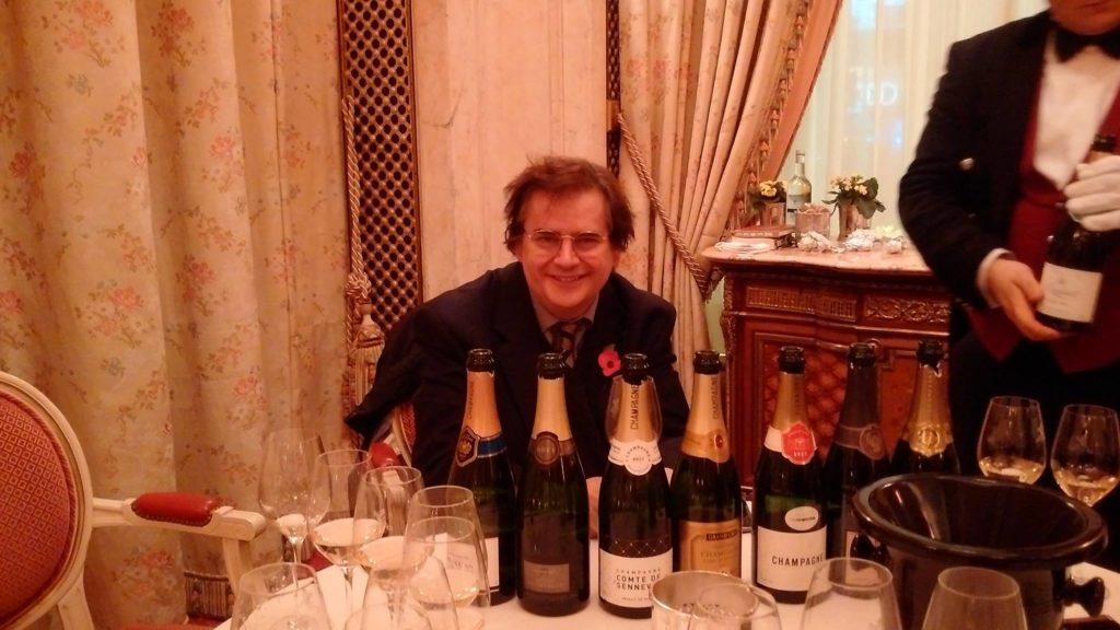 DANTE editor Mark Beech at a recent wine tasting at the Ritz, London