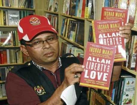 Enforcement officer. Indonesia and Malaysia have banned the book