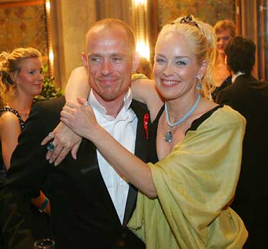 Gery Keszler with Sharon Stone  Life Ball - © Bernhard Fritsch
