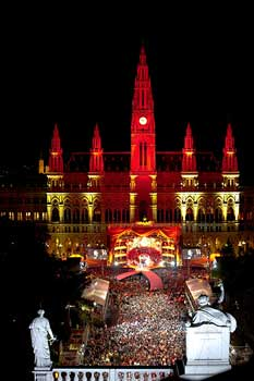 View of the City Hall  Life Ball © Christoph Leder