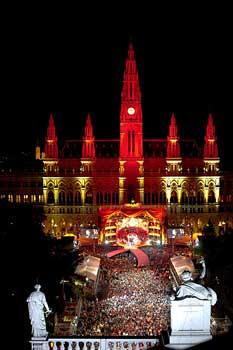 View of the City Hall  Life Ball © Christoph Leder