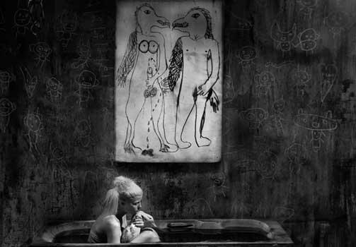 Roger Ballen/Die Antwoord installation Bath scene
