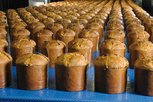 Bauli's production line of pandoro and panettone