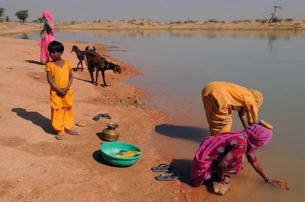 Women doing the washing