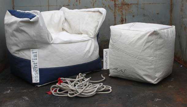 "Ecochair ""essènt'ial"" made of papper and raffia"