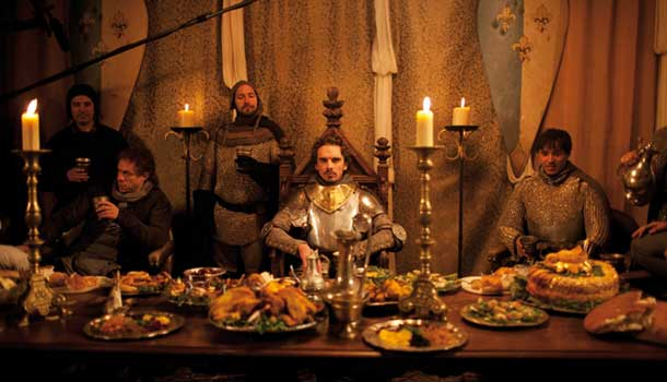 On set of Henry V