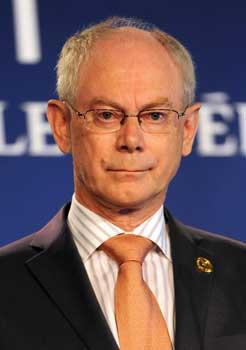 The President of the European Council Herman Van Rompuy