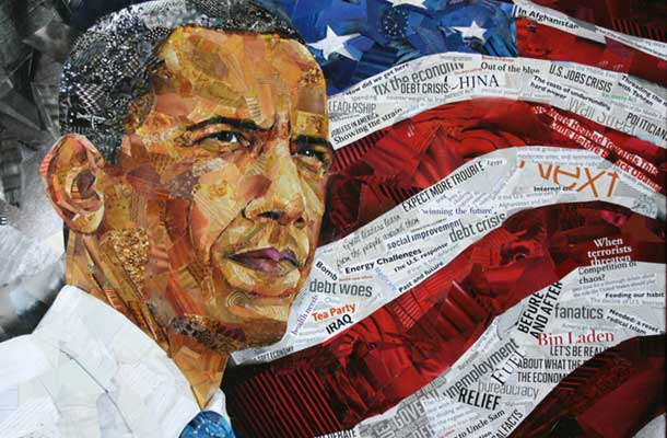 Obama oil paint