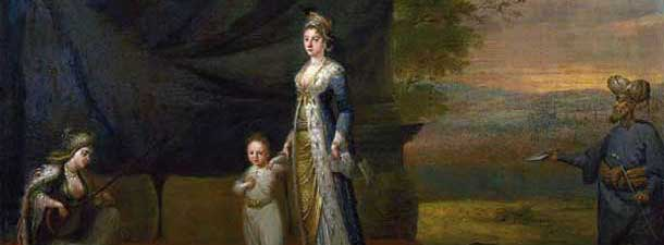 Lady Mary Wortley Montagu with her son