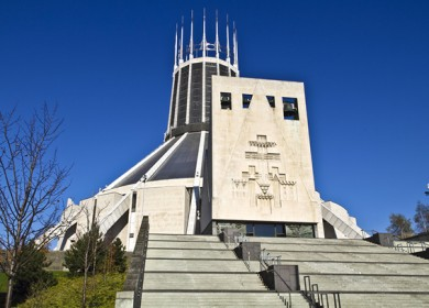 Liverpool Metropolitan Cathedral of Christ the King - 1967. Designed by Sir Frederick Gibberd