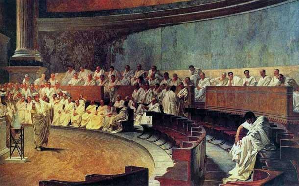 Cicero Denounces Catiline 1889 - Cesare Maccari Palazzo Madama - Rome