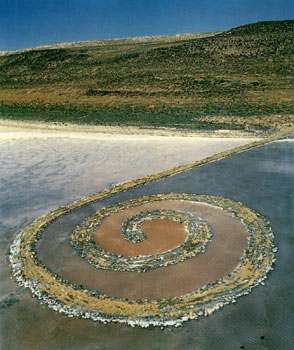 Robert Smithson, Spiral Jetty 1970, Great Salt Lake, Utah Courtesy Mocala