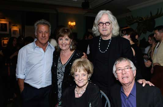 Dustin Hoffman, Pauline Collins Billy Connolly, Maggie Smith and Tom Courtenay at the Grey Goose Party for Quartet