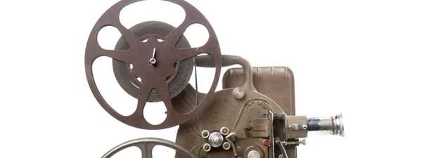 Detail of old film projector