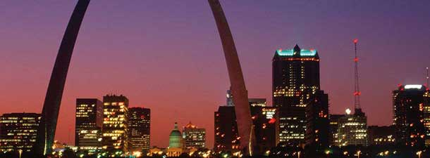 St. Louis - Missouri skyline at night