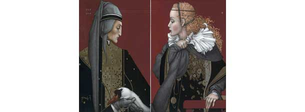 Dante and Beatrice by Michael Parkes