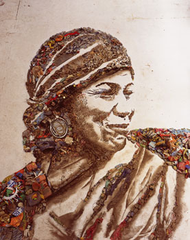 Vik Muniz, The Gipsy (Magna), from the series Pictures of Garbage, 2008