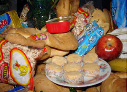 Food for the celebration of the departed