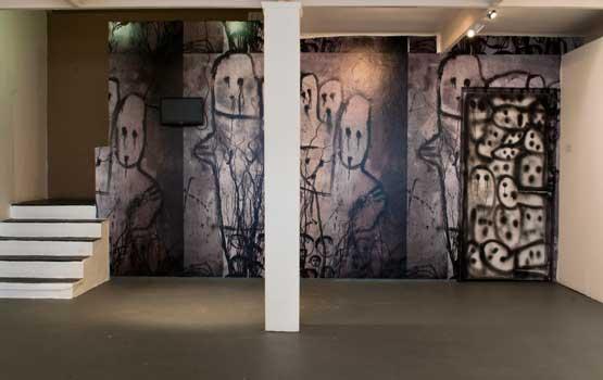 Roger Ballen/Die Antwoord installation view