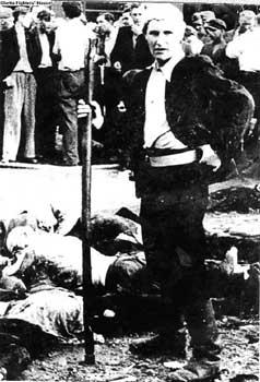 Lithuanian militia man, Kovno
