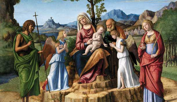 The Flight to Egypt with St. John the Baptist and Lucia, Lisbon, Calouste Gulbenkian Museum Photo: Catarina Gomes Ferreira