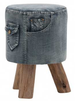 Pouf made with jeans by Eva Forgacova