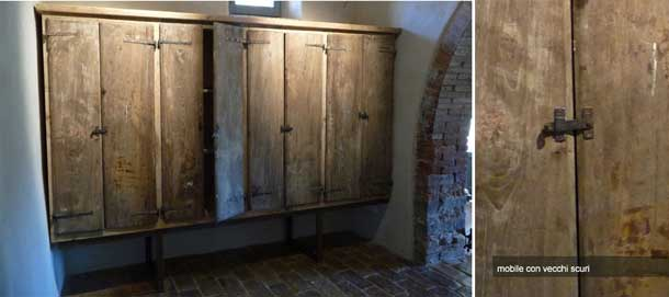 Doors made out of reclaimed wood